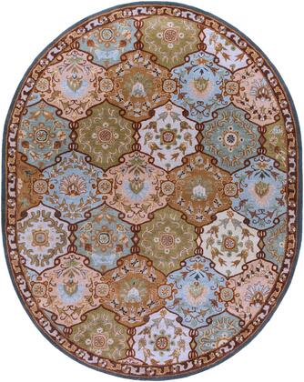 Caesar CAE-1032 8' x 10' Oval Traditional Rug in