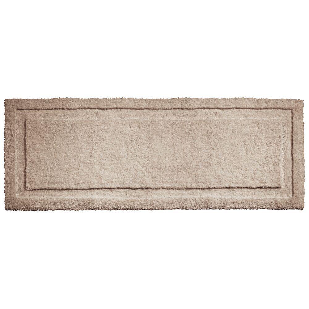 mDesign Microfiber Bath Mat, Non-Slip Bathroom Rug, in Linen, 60