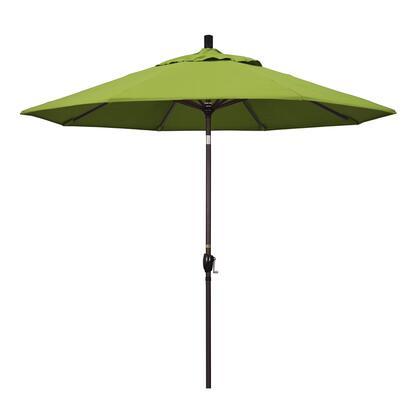 GSPT908117-5429 9' Pacific Trail Series Patio Umbrella With Bronze Aluminum Pole Aluminum Ribs Push Button Tilt Crank Lift With Sunbrella 2A Macaw