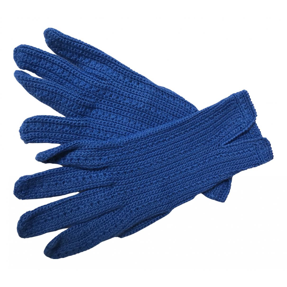 Non Signe / Unsigned Crochet Handschuhe in  Lila Baumwolle