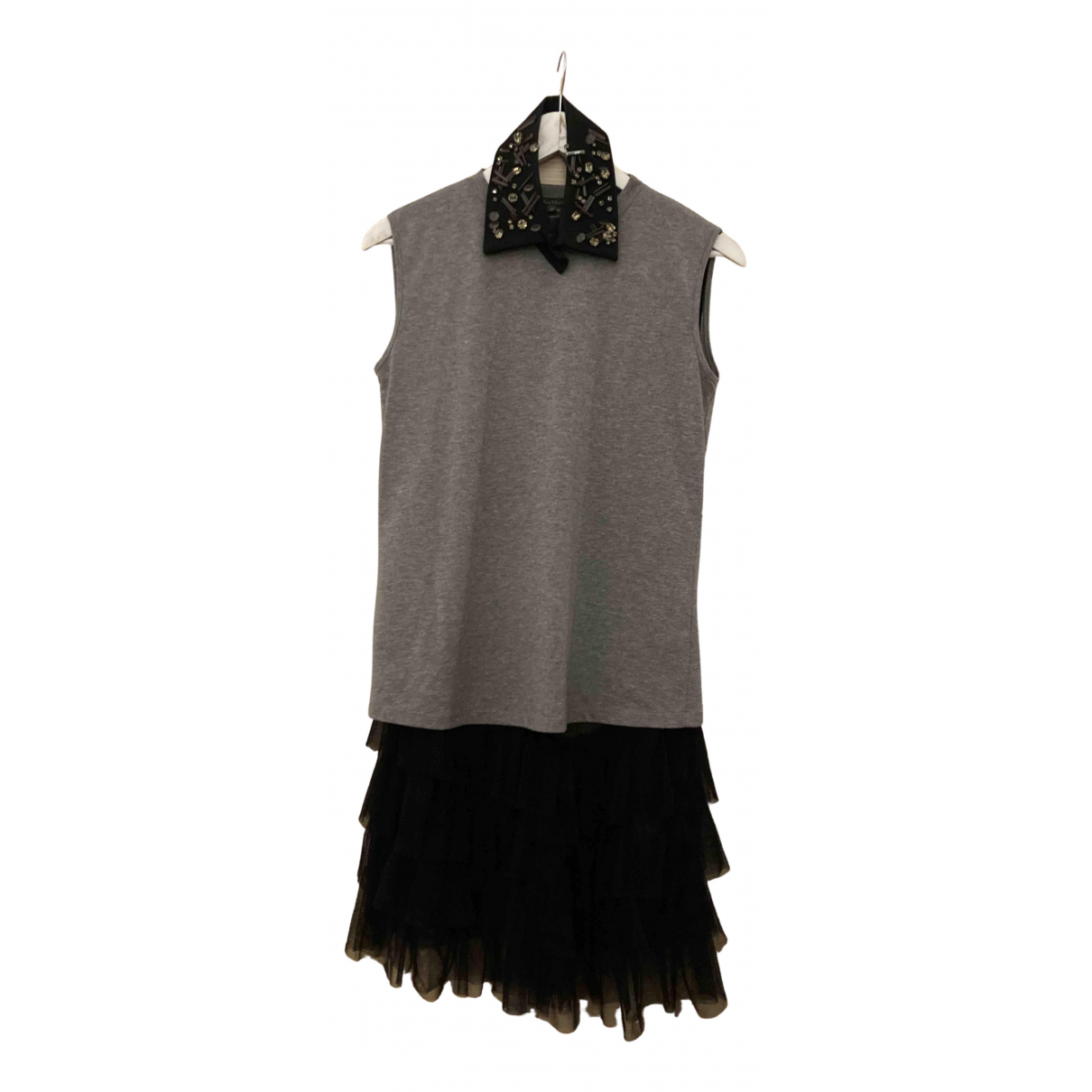 Max Mara \N Kleid in  Grau Baumwolle