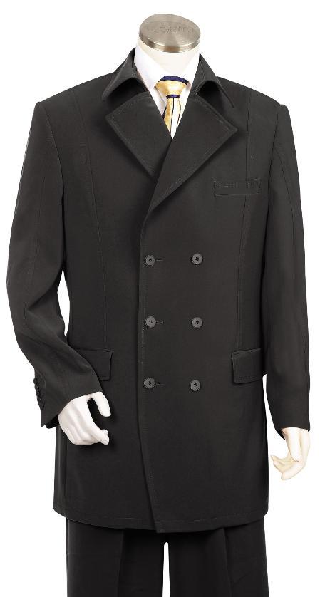 3 Button Suit Wide Leg Pants Wool Feel Black Tuxedo/Jacket Mens Cheap