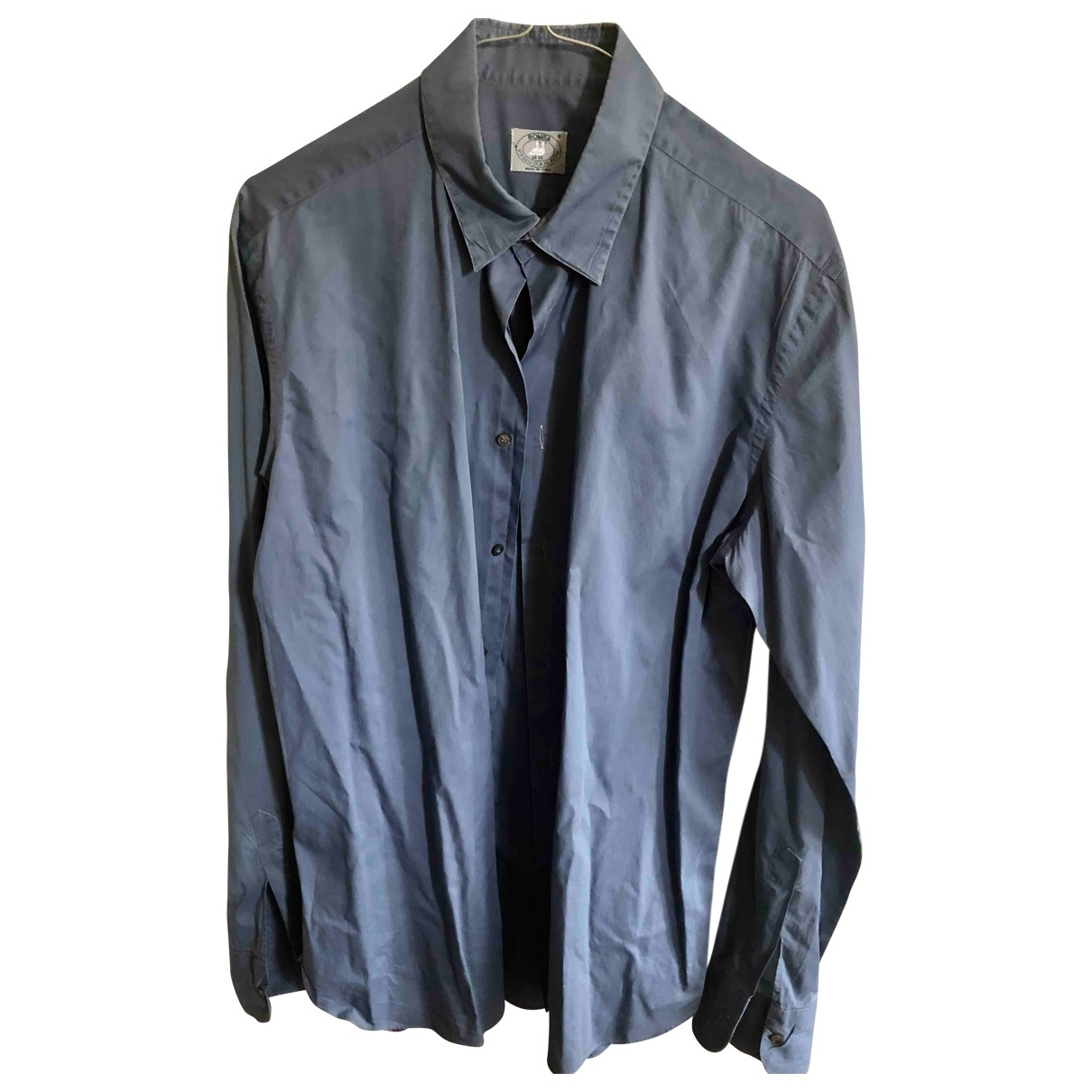 Non Signé / Unsigned \N Navy Cotton Shirts for Men M International