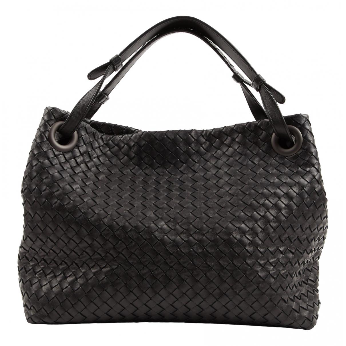 Bottega Veneta - Sac a main Garda pour femme en cuir - noir