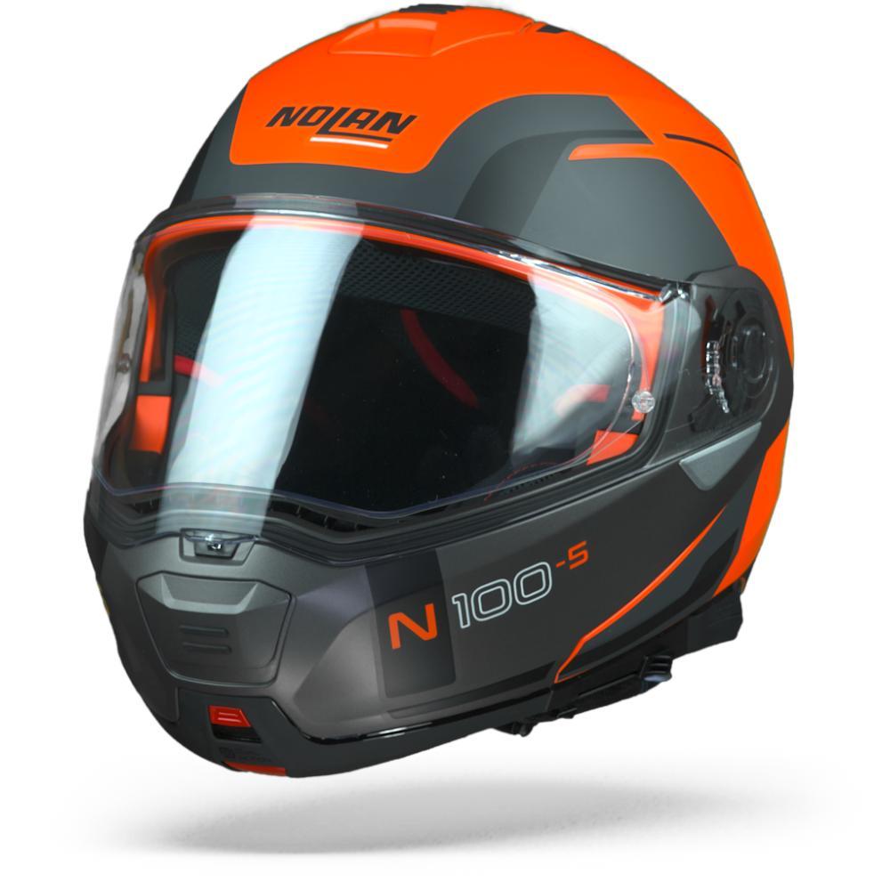 Nolan N100-5 Consistency Flat LED Naranja N-Com 027 L