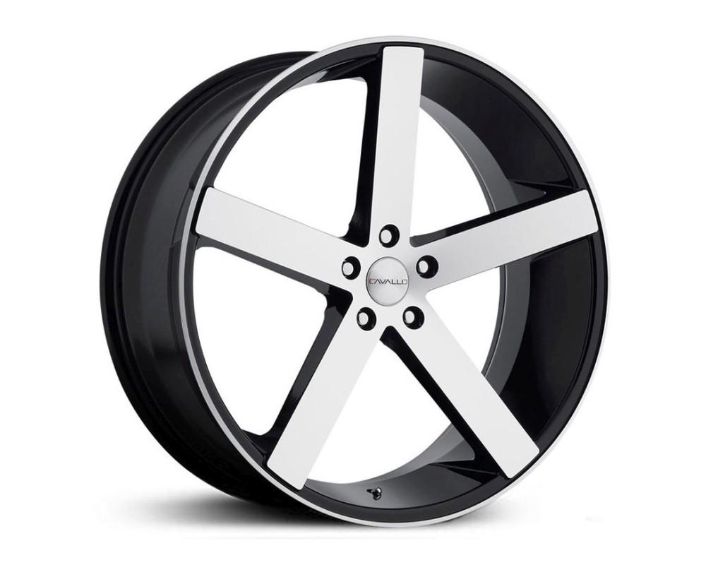 Cavallo CLV-5 Wheel 20x8.5 5x112 35mm Gloss Black Machined