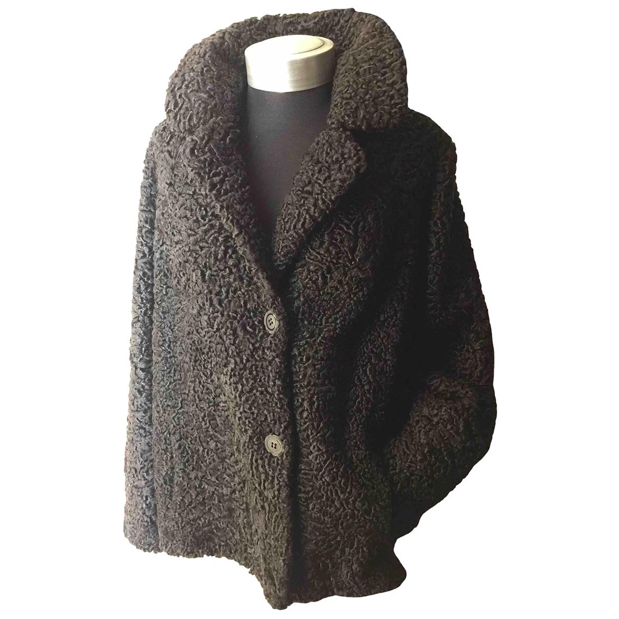 Saga Furs \N Jacke in  Schwarz Persianer