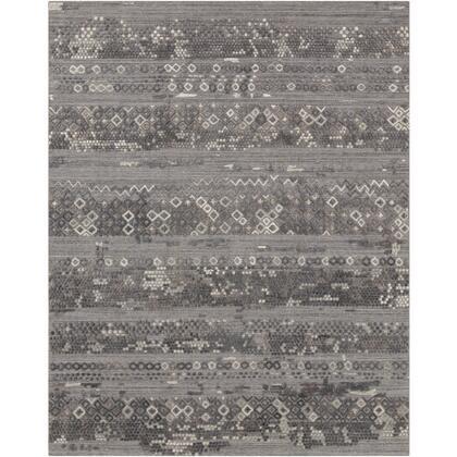 Makalu MKL-2302 8' x 10' Rectangle Global Rug in Medium Gray  Charcoal  Light