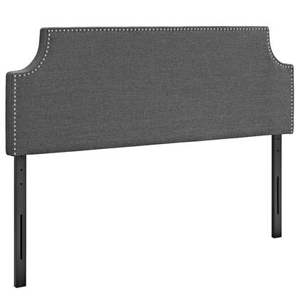 MOD-5394-GRY Laura Queen Fabric Headboard  in