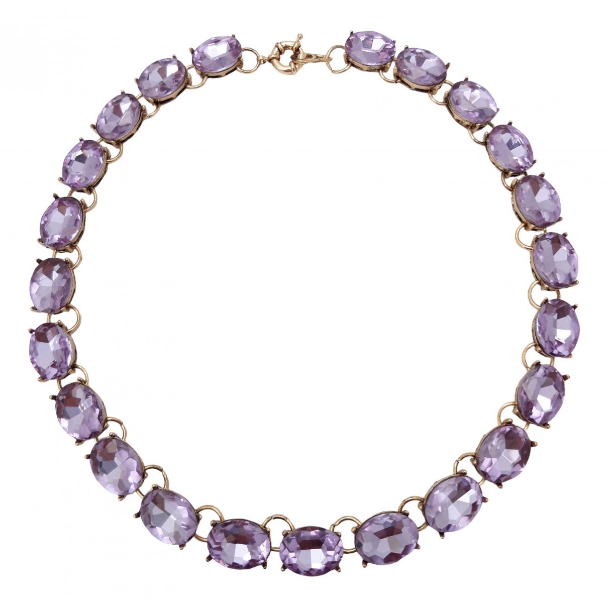 Non Signé / Unsigned Art Déco Purple Crystal necklace for Women \N