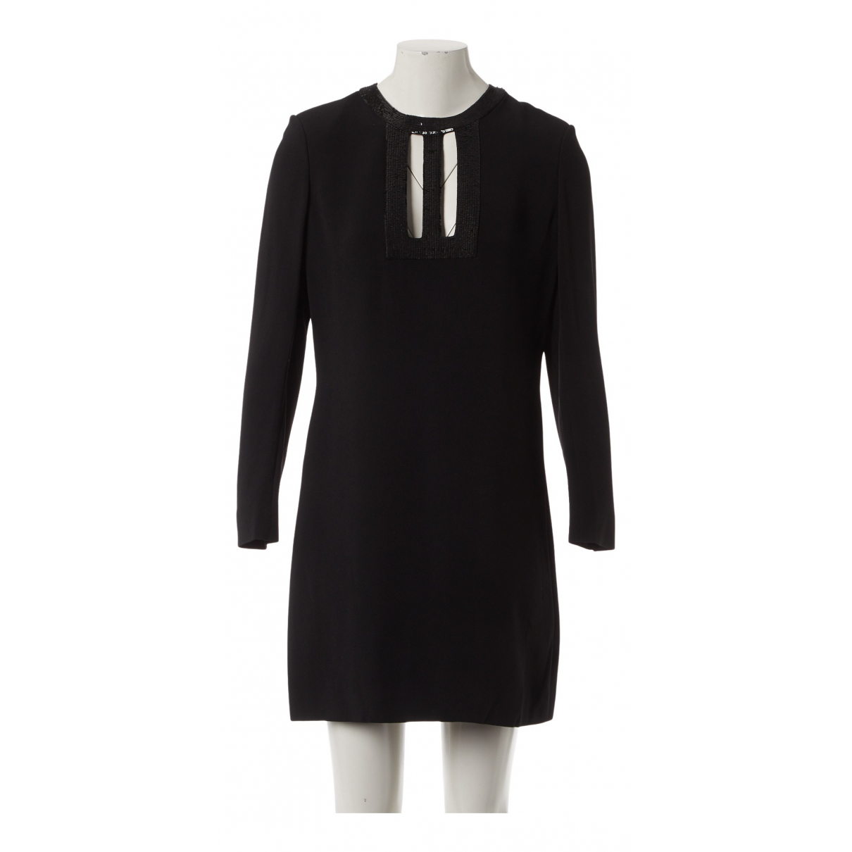 Saint Laurent \N Kleid in  Schwarz Viskose
