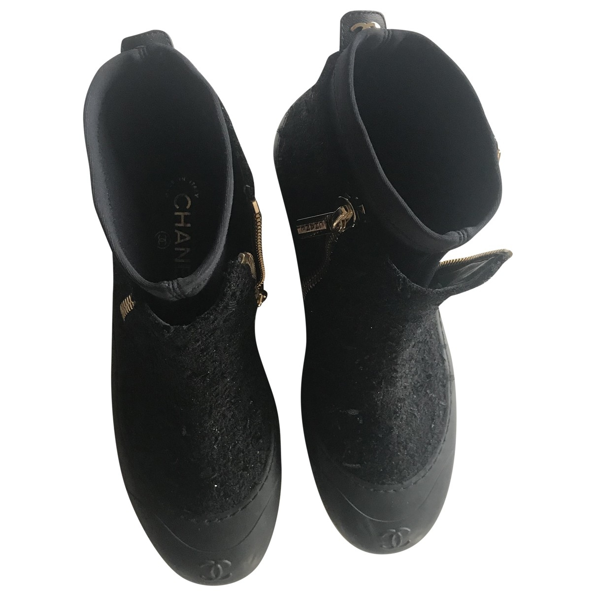 Chanel \N Black Tweed Ankle boots for Women 40 EU