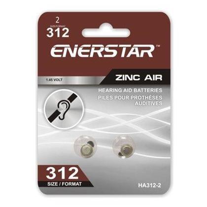 HEARING AID ZINC-AIR BATTERIES SIZE 312 2/PACK