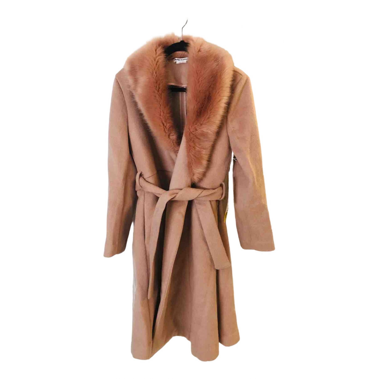 Reformation \N Pink Wool coat for Women M International