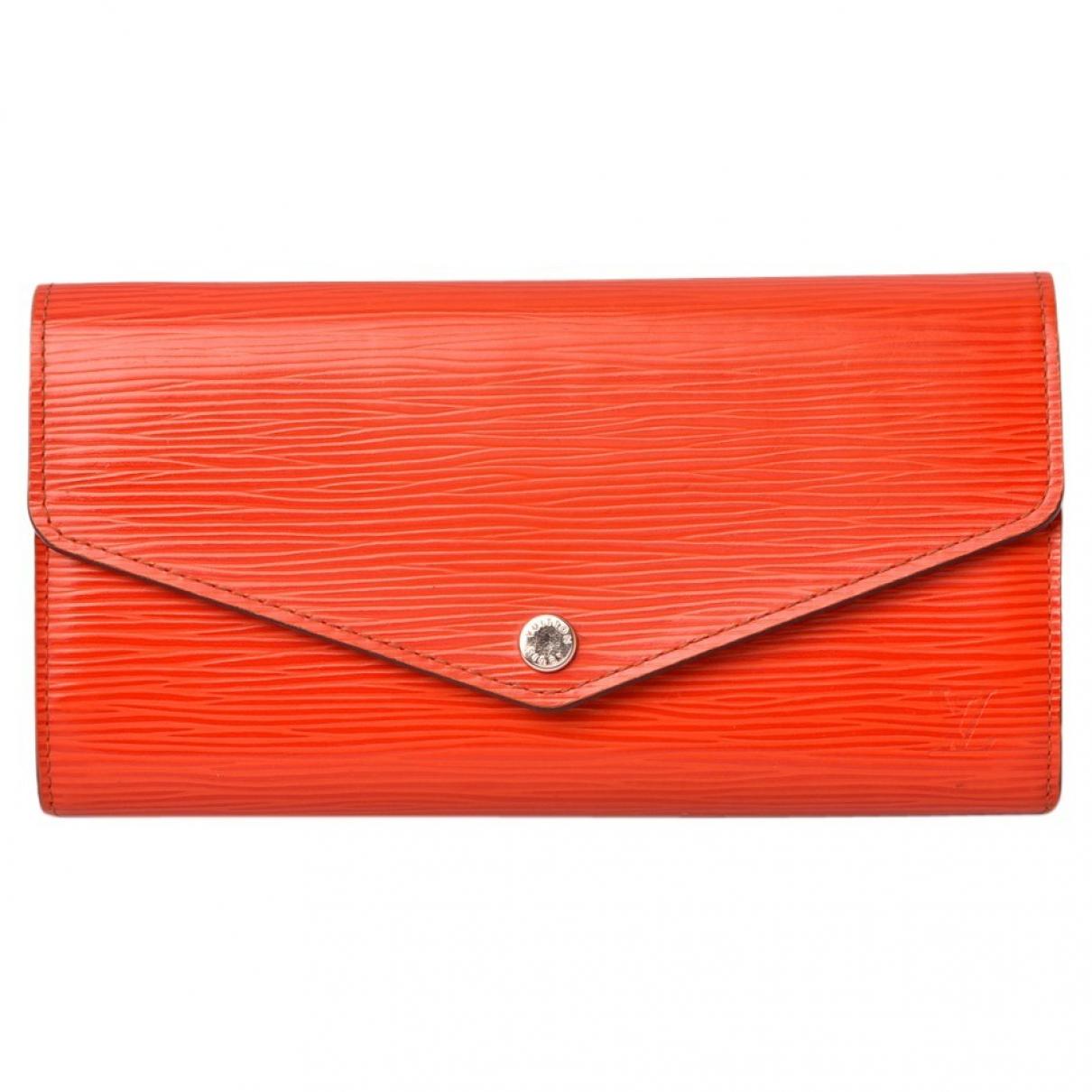 Louis Vuitton Sarah Orange Leather wallet for Women \N