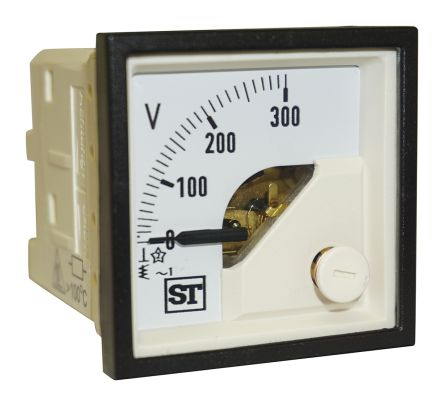 Sifam Tinsley AC Analogue Voltmeter, 300V, 45 x 45 mm,
