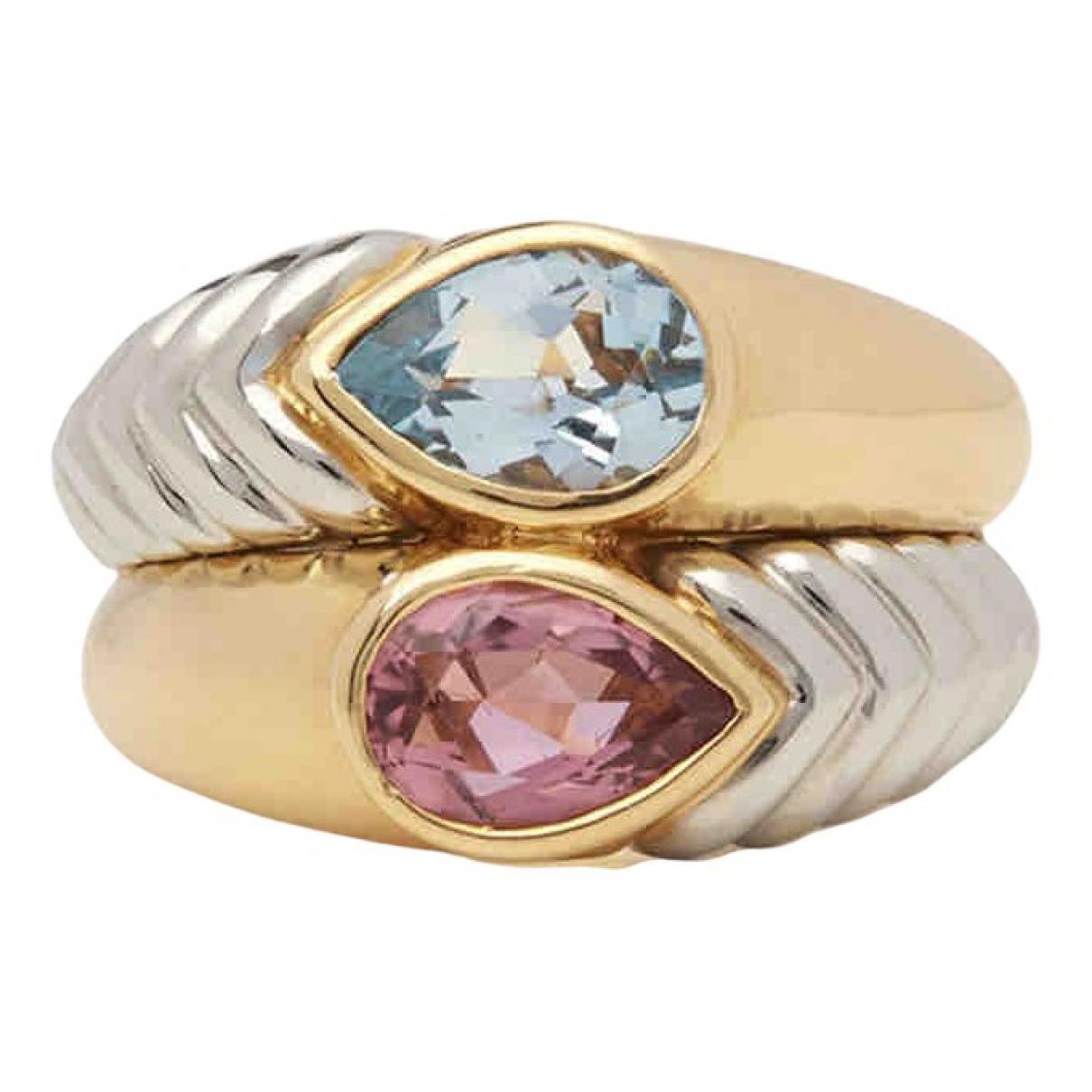 Bvlgari Doppio Multicolour Yellow gold ring for Women 54 EU