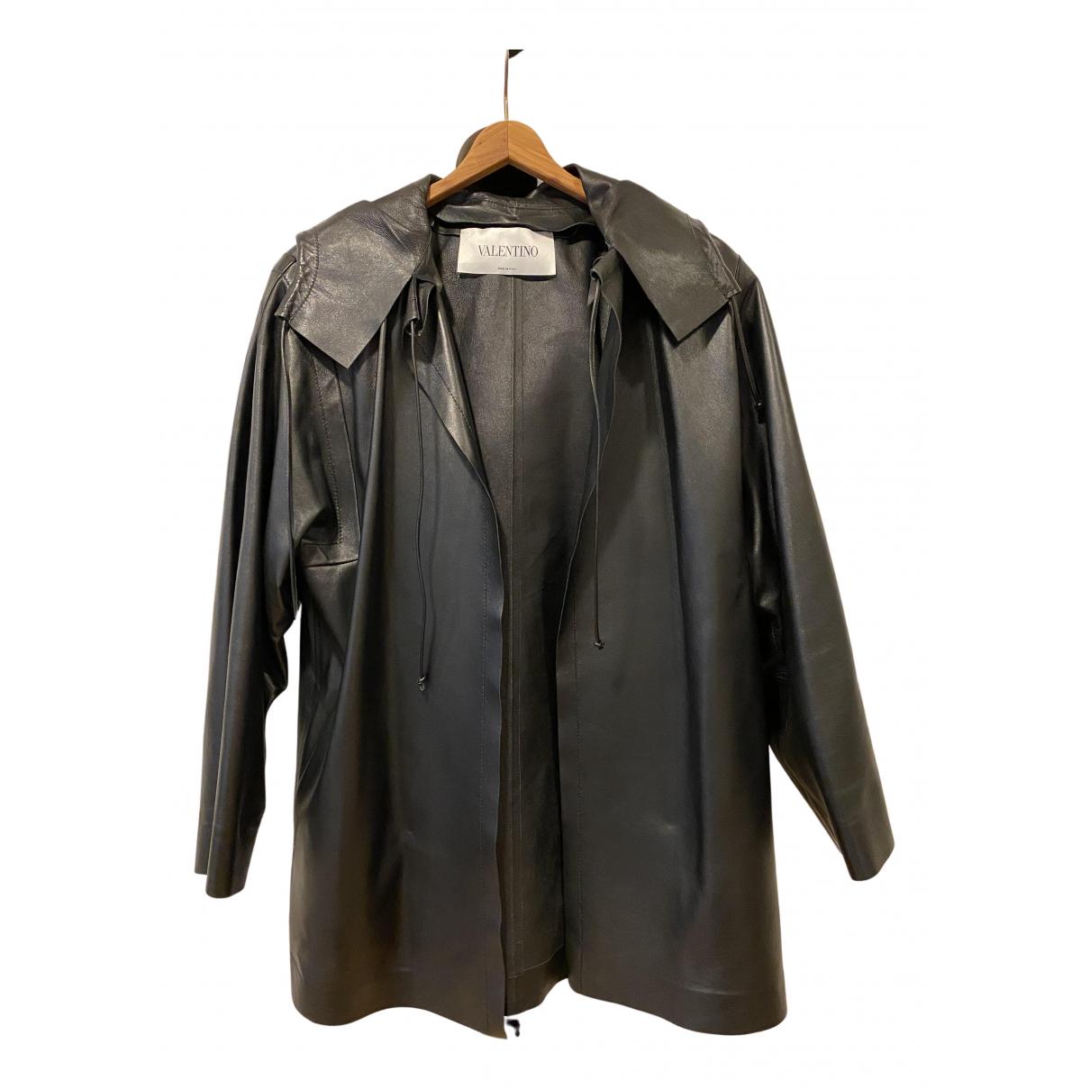 Valentino Garavani - Veste   pour femme en cuir - noir