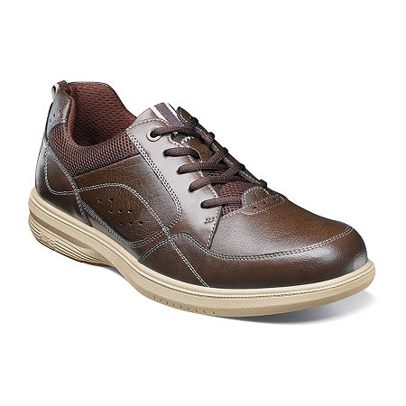 Nunn Bush Mens Kore Walk Lace-up Oxford Shoes, 13 Medium, Brown