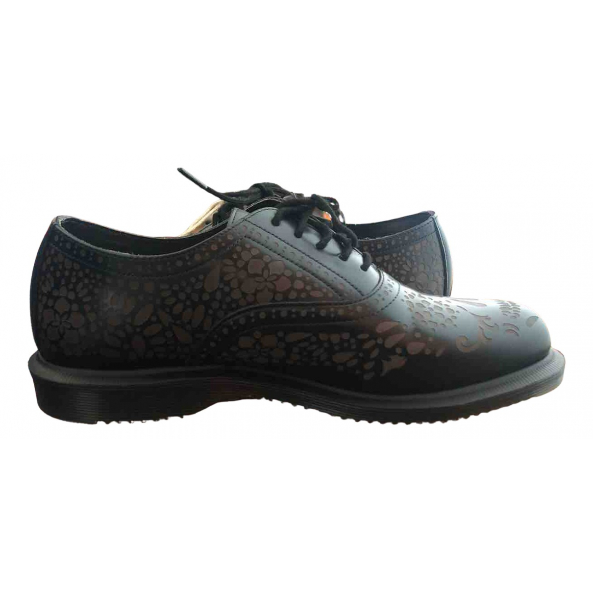 Dr. Martens 3989 (Brogue) Black Rubber Lace ups for Women 6.5 UK