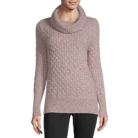 Liz Claiborne Womens Cowl Neck Pullover Sweater, Xx-large , Pink