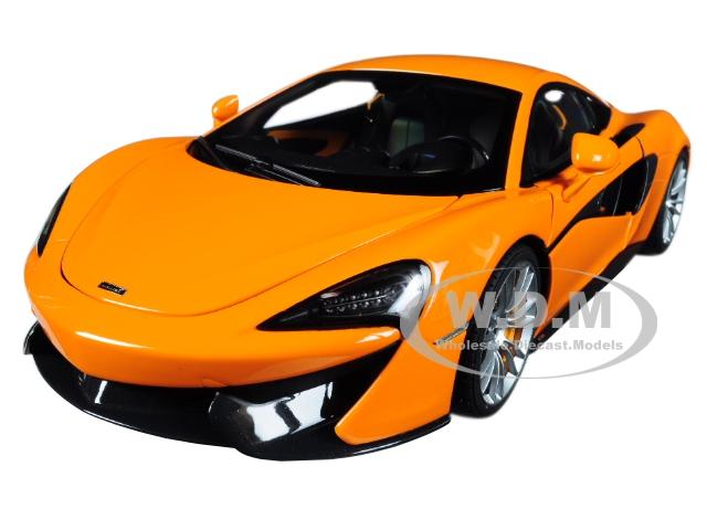McLaren 570S McLaren Orange with Silver Wheels 1/18 Model Car by Autoart