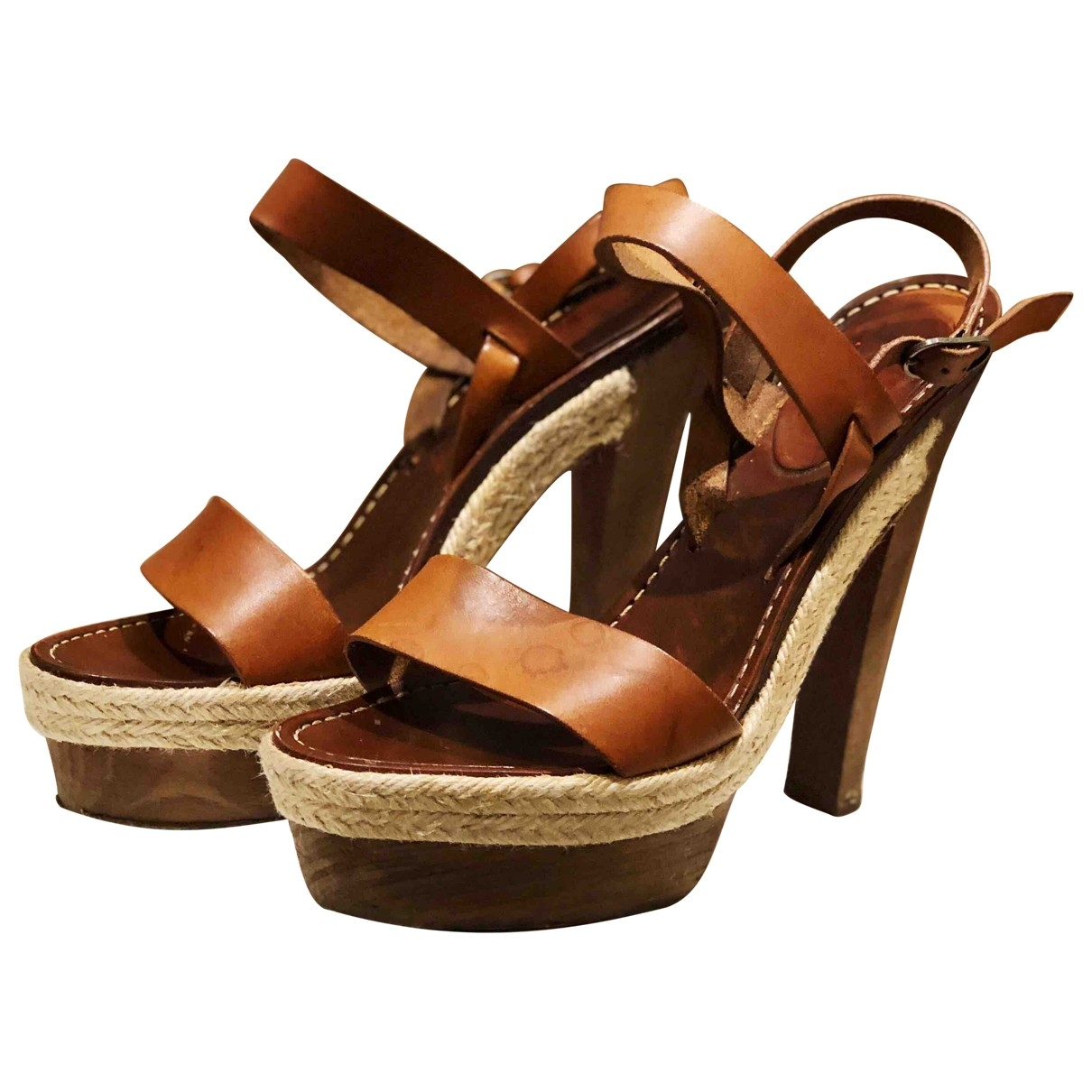 Christian Louboutin \N Brown Leather Sandals for Women 40 EU