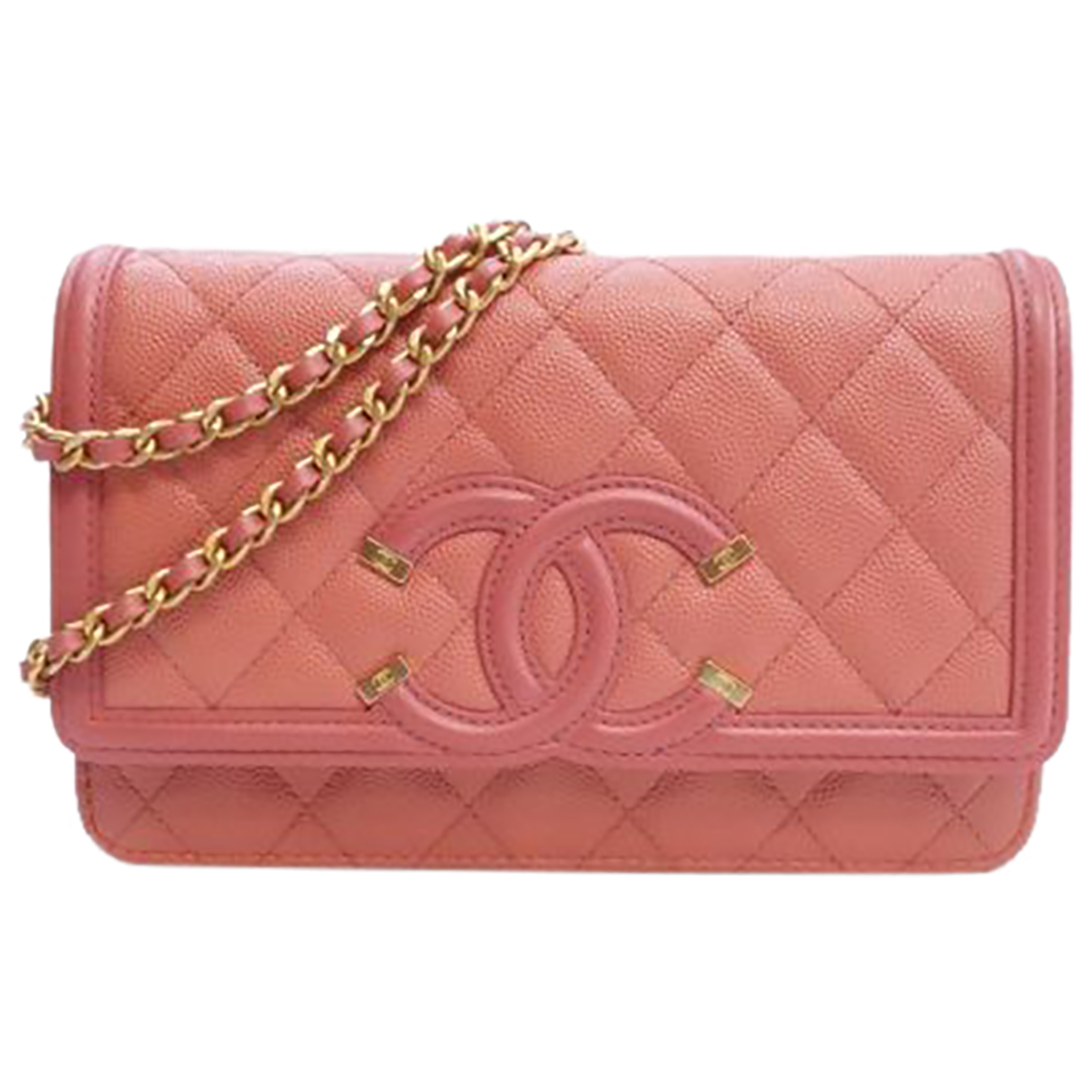 Chanel - Sac a main Wallet on Chain pour femme en cuir - rose