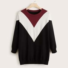 Jersey de cheuron de color combinado