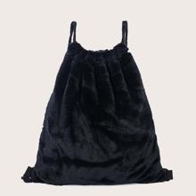 Faux Fur Decor Backpack