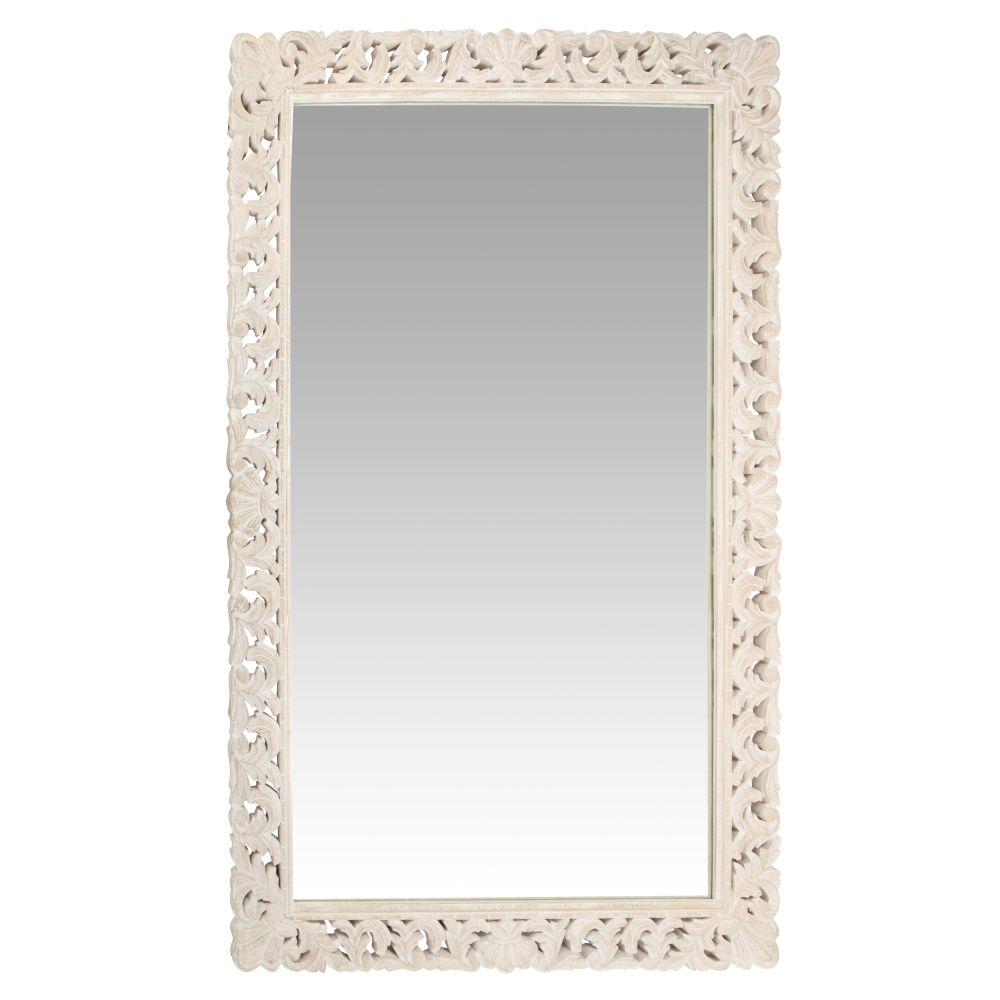 Spiegel mit geschnitztem Mangoholzrahmen 120x180