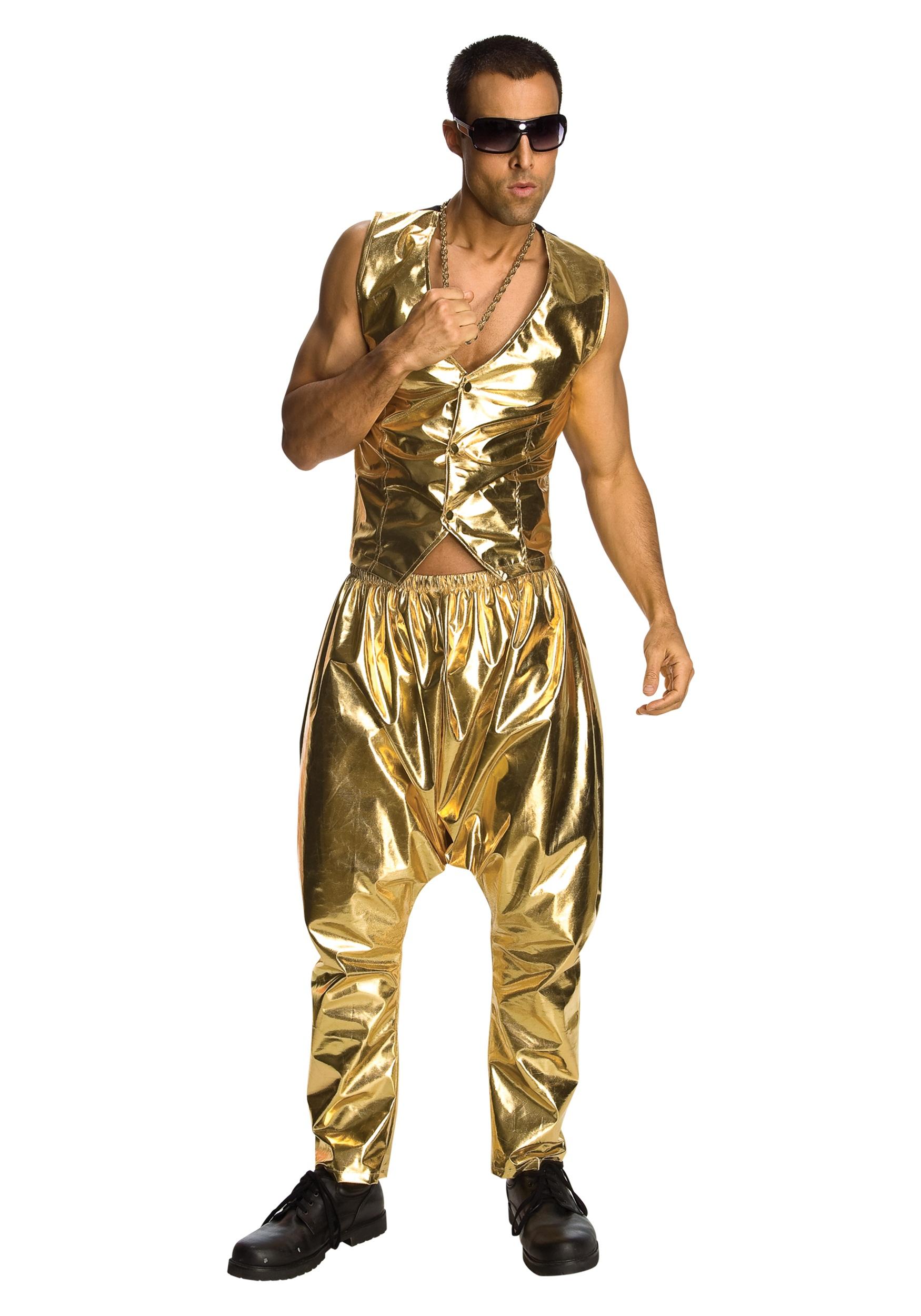 Gold MC Hammer Pants For men