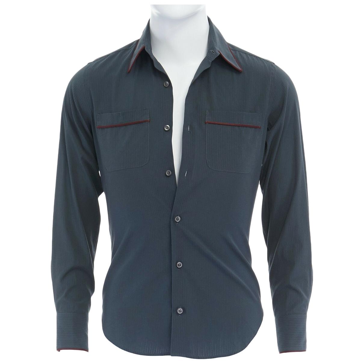 Romeo Gigli \N Blue Cotton Shirts for Men XS International