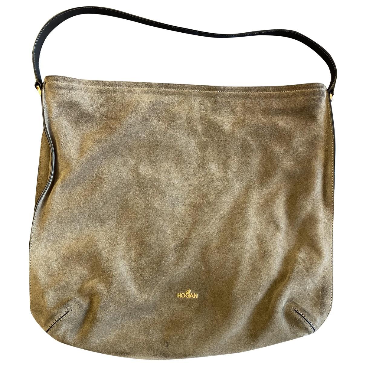 Hogan \N Handtasche in  Braun Veloursleder