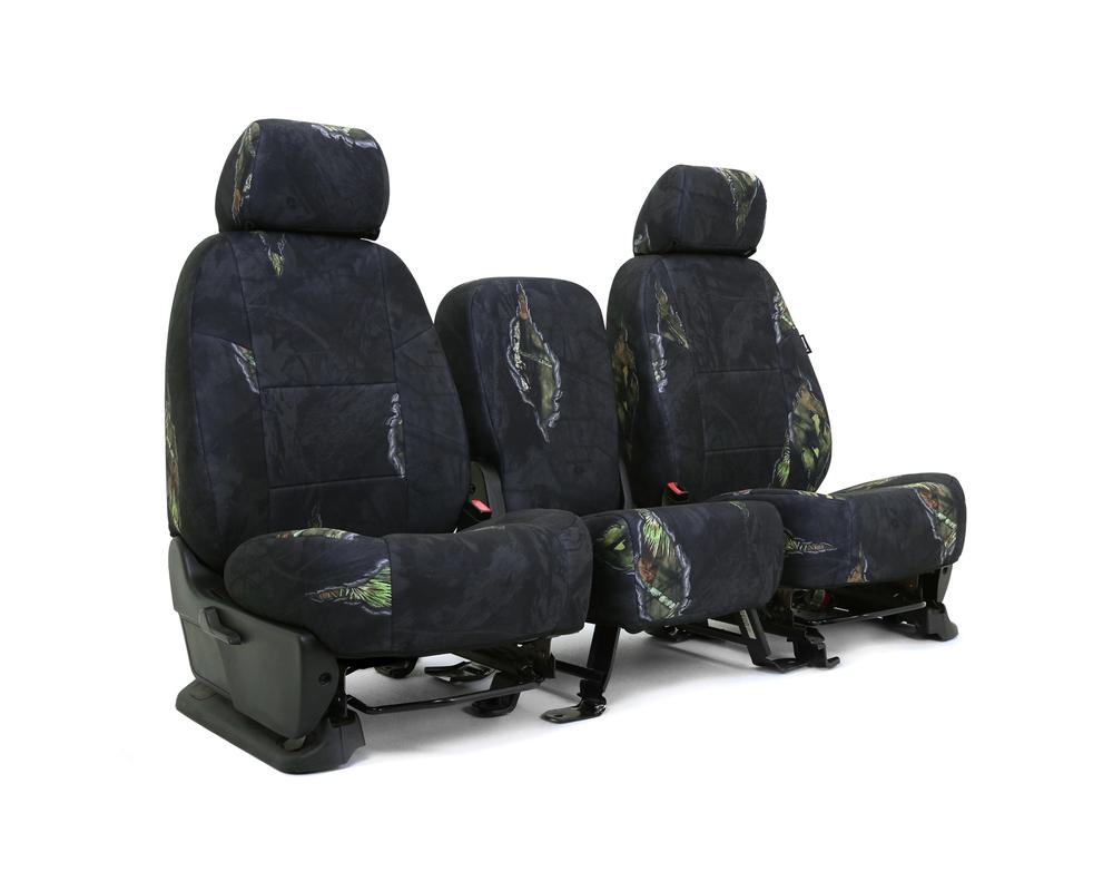 Coverking CSCMO12FD9817 Skanda Custom Seat Covers 1 Row Neosupreme Mossy Oak Eclipse Solid Rear Ford F-150 2015-2018