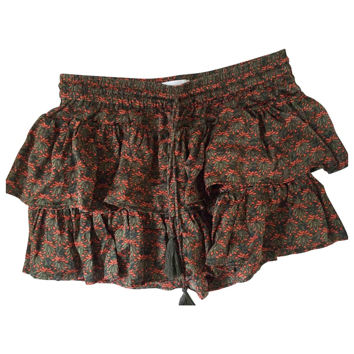 Non Signe / Unsigned \N Shorts in  Khaki Seide