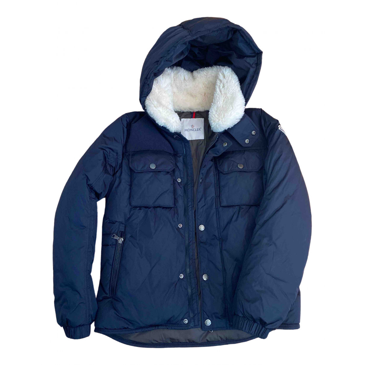 Moncler Fur Hood Navy jacket & coat for Kids 12 years - XS FR