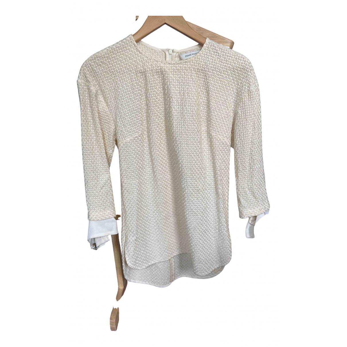 Pierre Balmain - Top   pour femme en coton - blanc