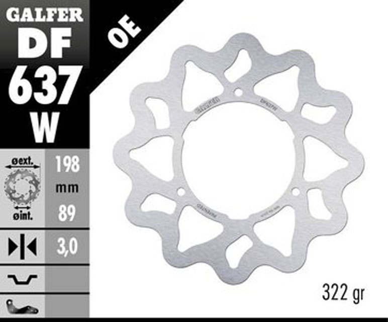 Galfer Front Brake Disc KTM 60 SX