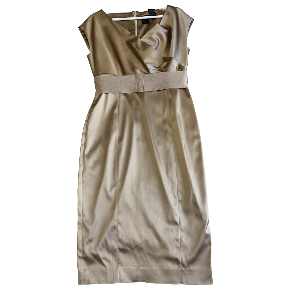 Max Mara Max Mara Atelier Kleid in  Gold Baumwolle - Elasthan