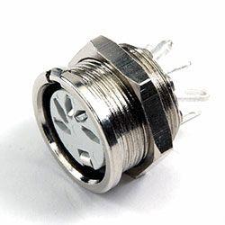 Deltron 5 Pole Din Socket Socket, DIN 41524, DIN 45322, DIN 45326, DIN 45327, DIN 45329, 2A, 34 V ac/dc