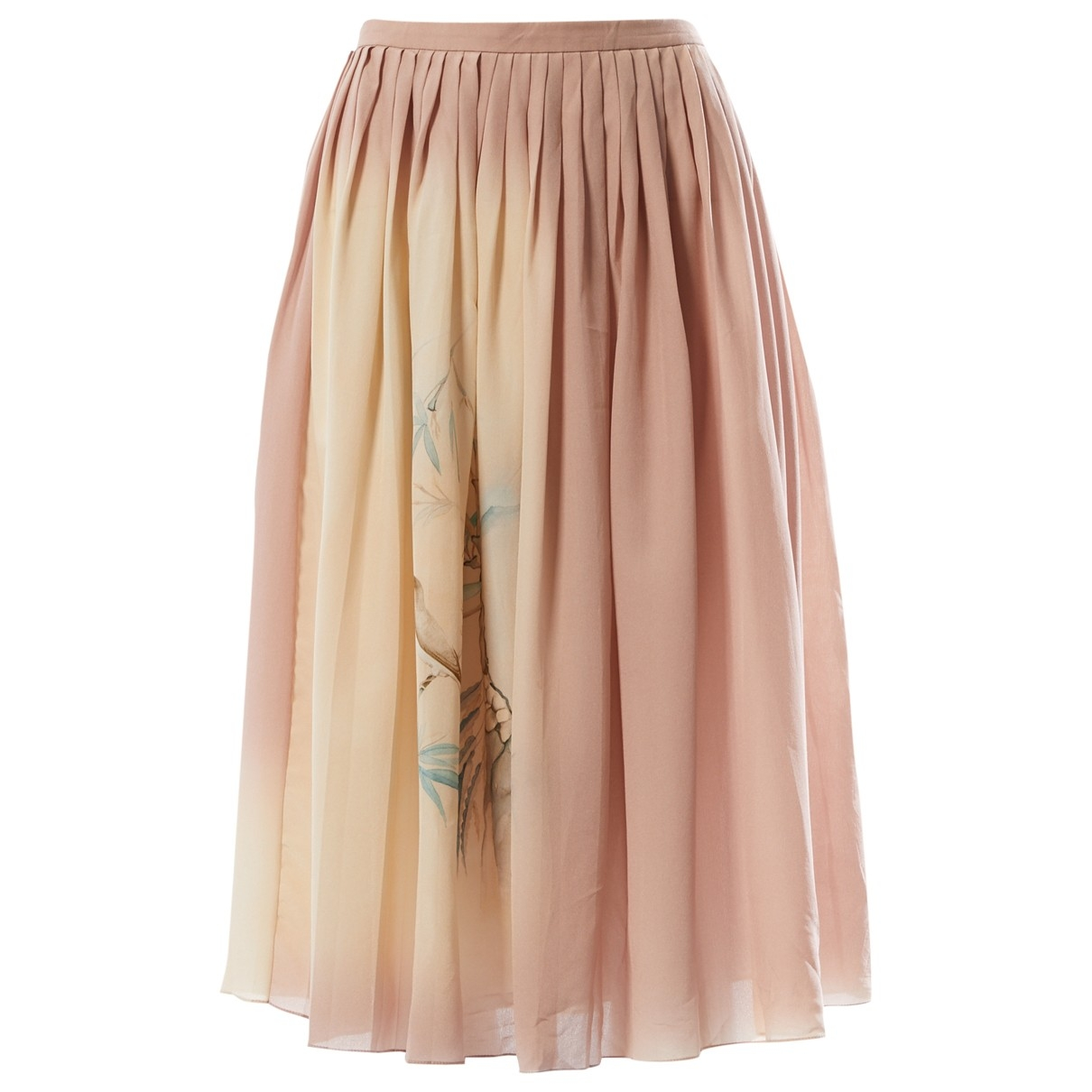 Valentino Garavani \N Beige Silk skirt for Women 6 US