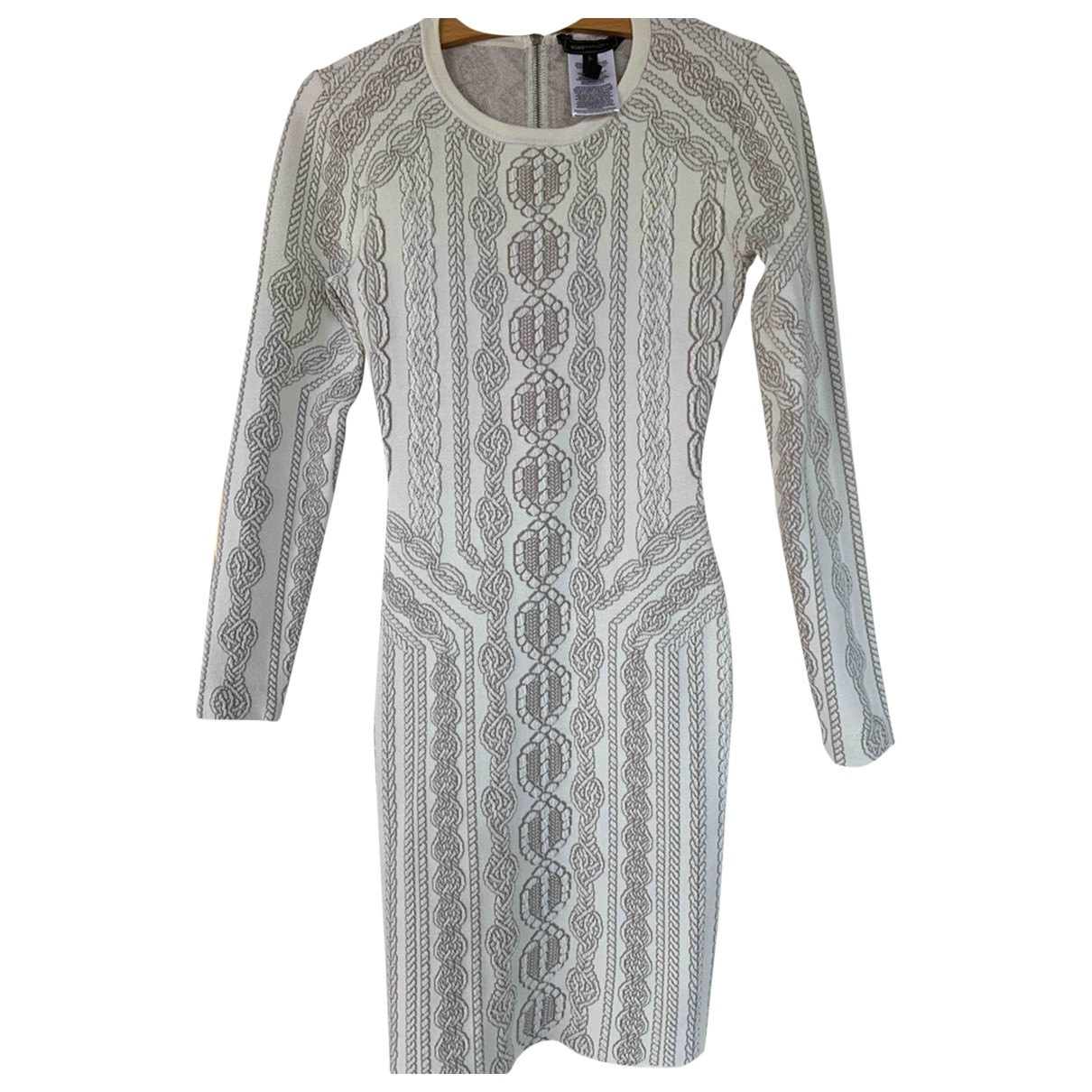 Bcbg Max Azria \N Beige Cotton dress for Women 36 FR