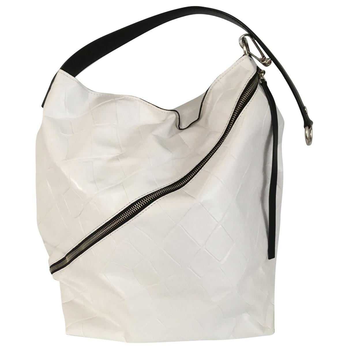 Proenza Schouler - Sac a main Zip Hobo pour femme en cuir - blanc