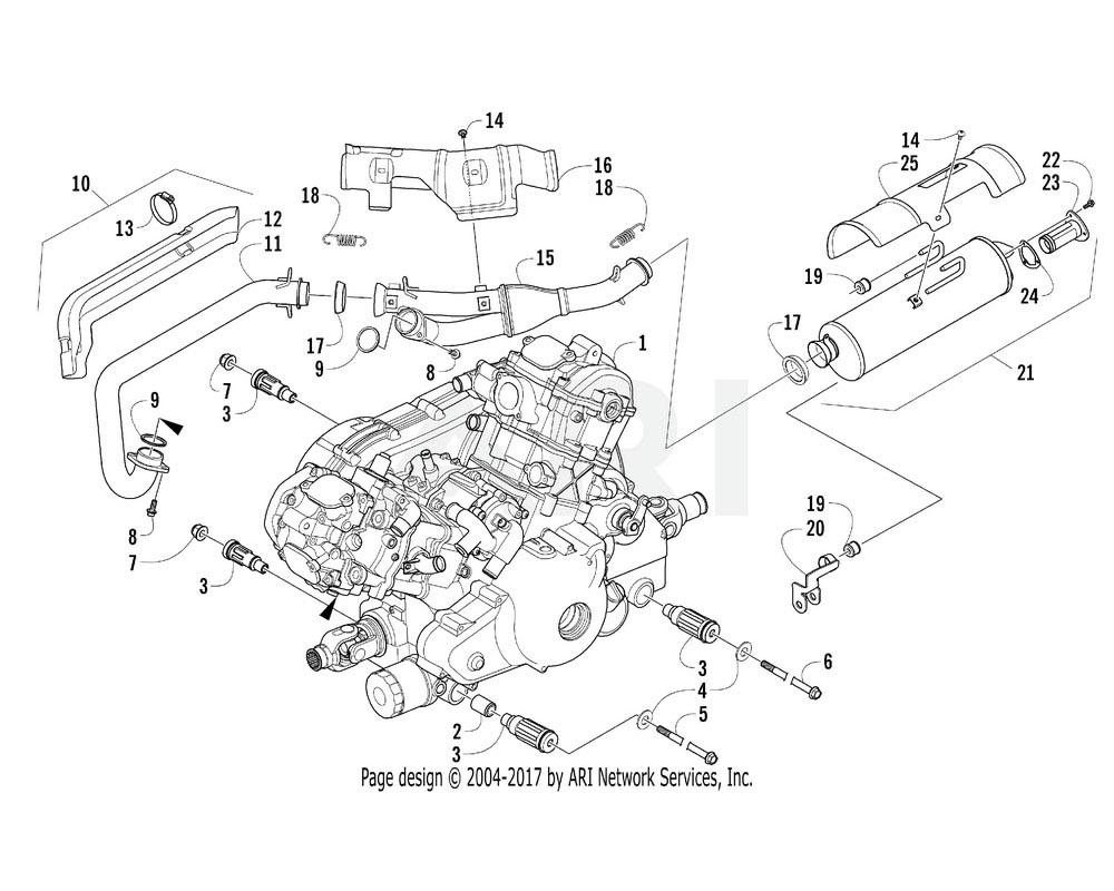 Arctic Cat OEM 0800-183 Engine A950H B H2 Assembly (Fis)
