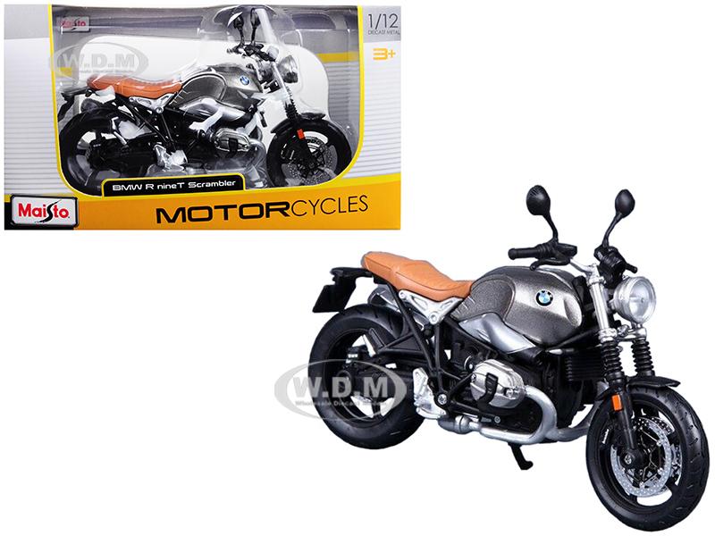 BMW R nineT Scrambler Metallic Gray 1/12 Diecast Motorcycle Model by Maisto
