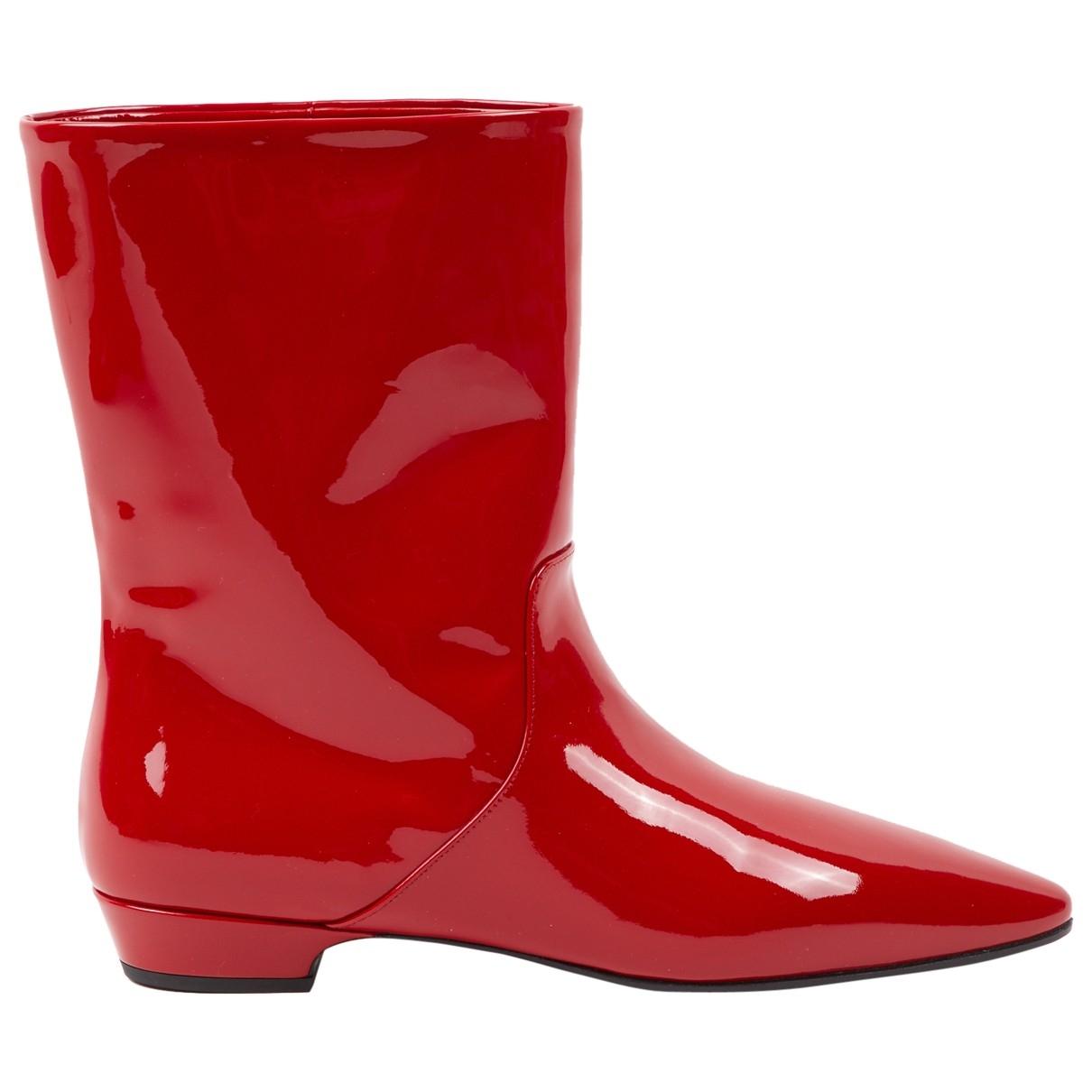 Miu Miu \N Stiefel in  Rot Lackleder