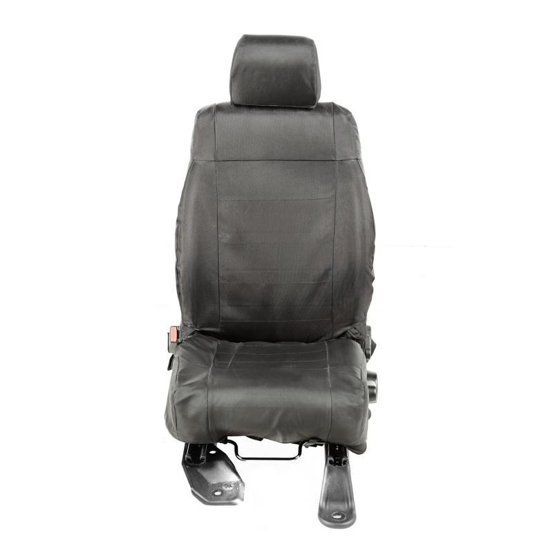 Rugged Ridge 13216.12 Ballistic Seat Cover Kit, Front, Black; 11-18 Jeep Wrangler JK/JKU Jeep Wrangler 2007-2018