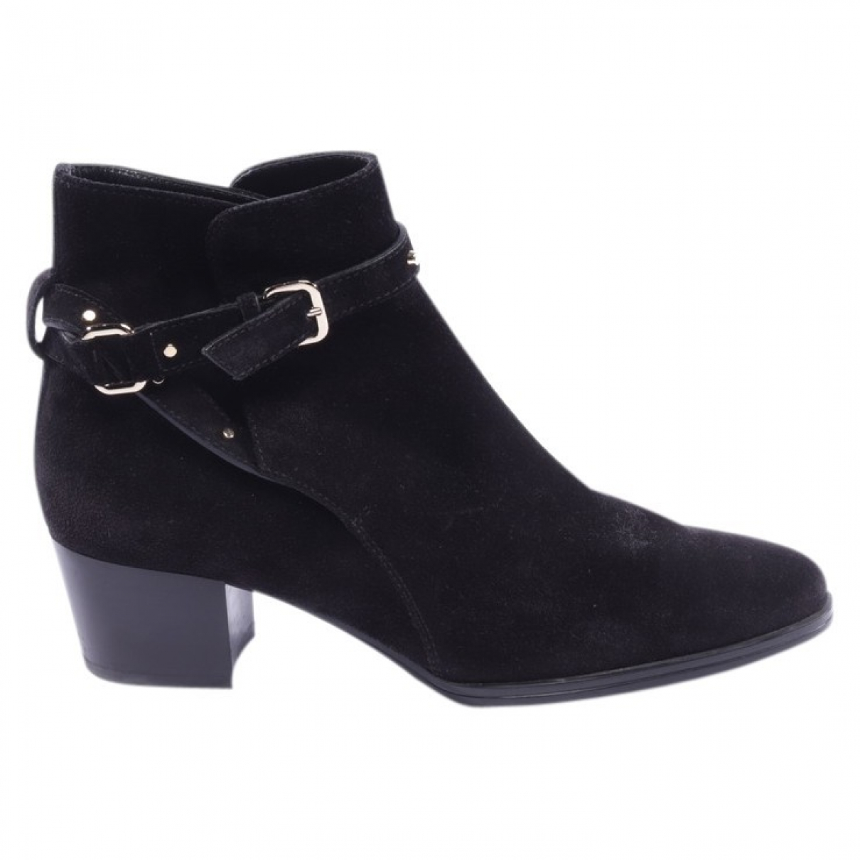 Tod's N Black Leather Ankle boots for Women 37.5 EU