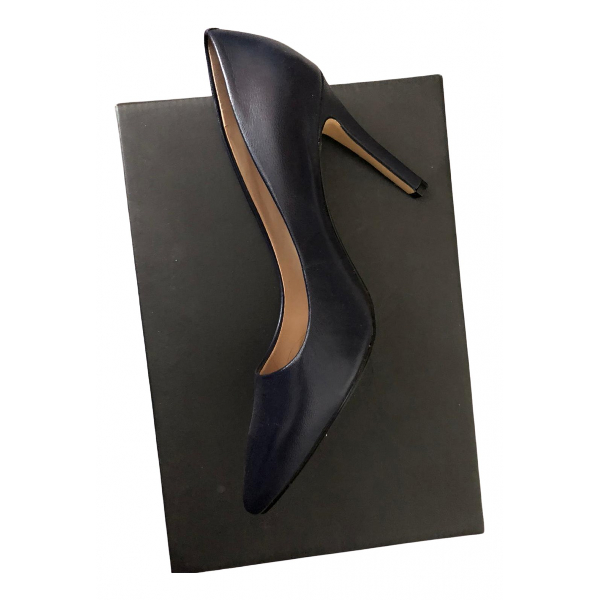 Saks Fifth Avenue Collection \N Navy Leather Heels for Women 5 US
